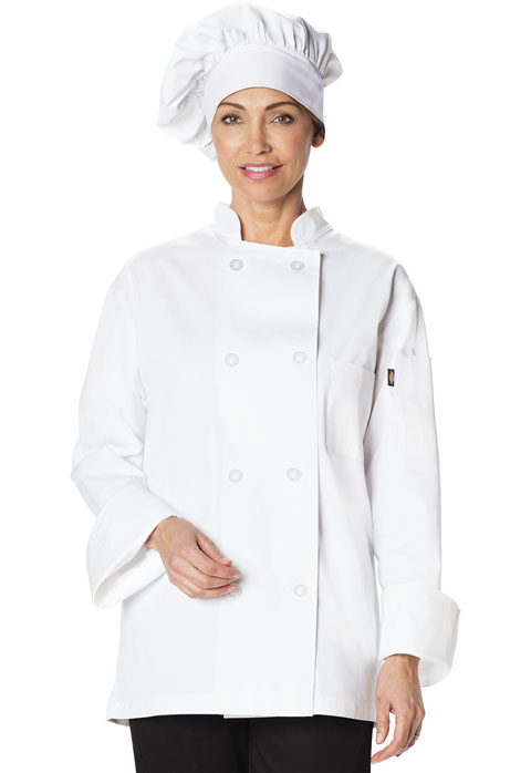 Dickies Chef Traditional Chef Hat in White