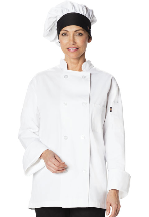 Dickies Chef Traditional Chef Hat in White with Black Trim