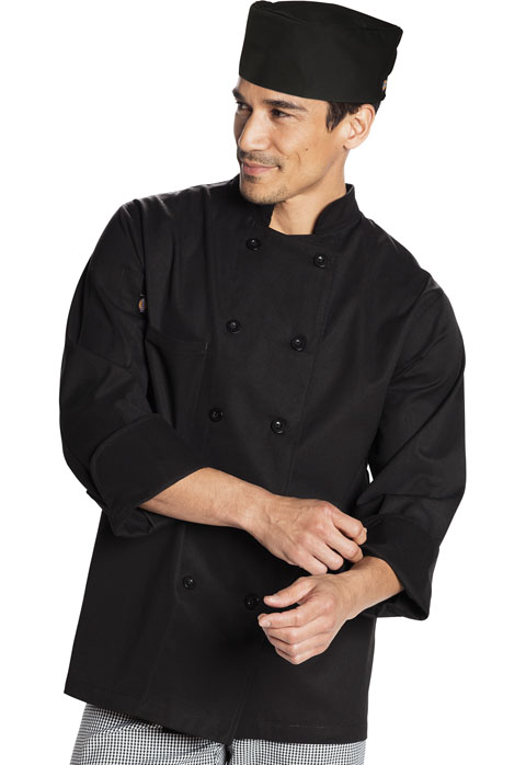 Dickies Chef Elastic Chef Beanie in Black