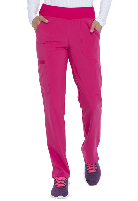 Dickies Every Day EDS Essentials Natural Rise Tapered Leg Pull-On Pant in Hot Pink