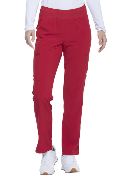 Dickies Every Day EDS Essentials Natural Rise Tapered Leg Pull-On Pant in Red