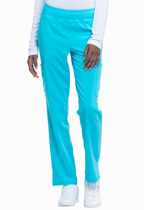 Dickies Every Day EDS Essentials Natural Rise Tapered Leg Pull-On Pant in Turquoise