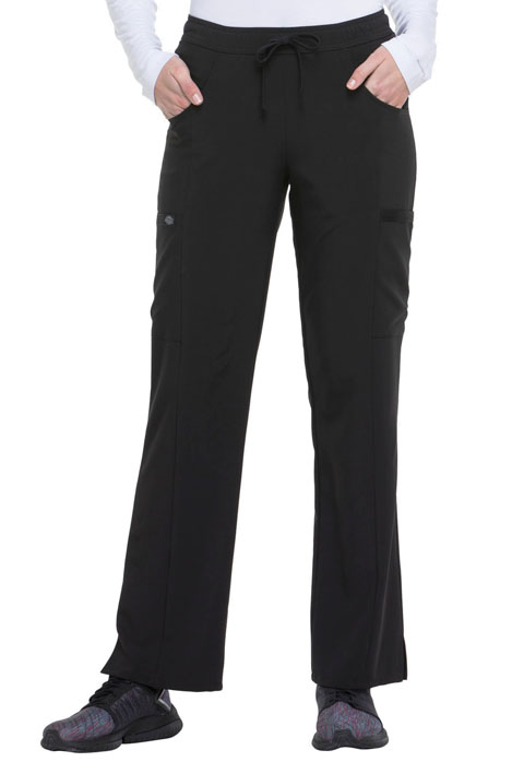 Dickies EDS Essentials Mid Rise Straight Leg Drawstring Pant in Black
