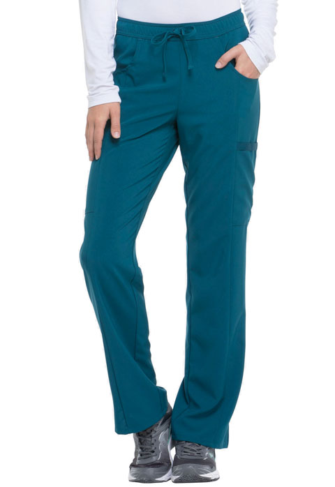 Dickies Every Day EDS Essentials Mid Rise Straight Leg Drawstring Pant in Caribbean Blue