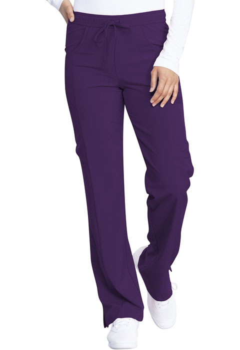Dickies Every Day EDS Essentials Mid Rise Straight Leg Drawstring Pant in Eggplant
