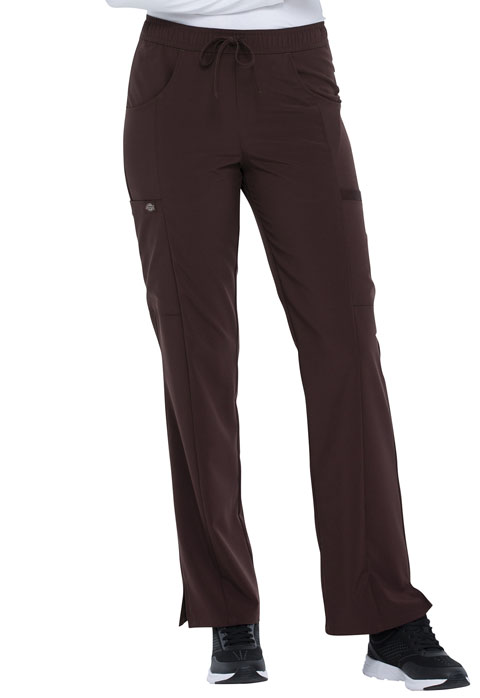 Dickies Every Day EDS Essentials Mid Rise Straight Leg Drawstring Pant in Espresso