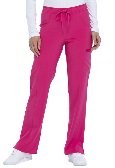 Dickies Every Day EDS Essentials Mid Rise Straight Leg Drawstring Pant in Hot Pink
