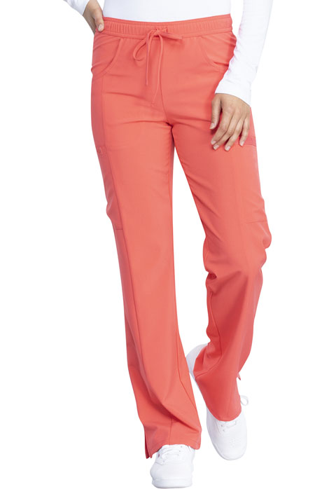 Dickies Every Day EDS Essentials Mid Rise Straight Leg Drawstring Pant in Papaya Punch