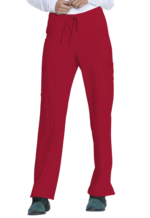 Dickies Every Day EDS Essentials Mid Rise Straight Leg Drawstring Pant in Red