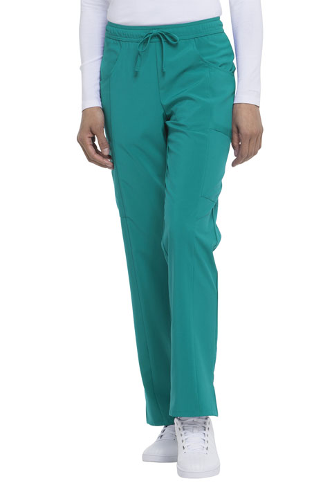 Dickies Every Day EDS Essentials Mid Rise Straight Leg Drawstring Pant in Teal Blue