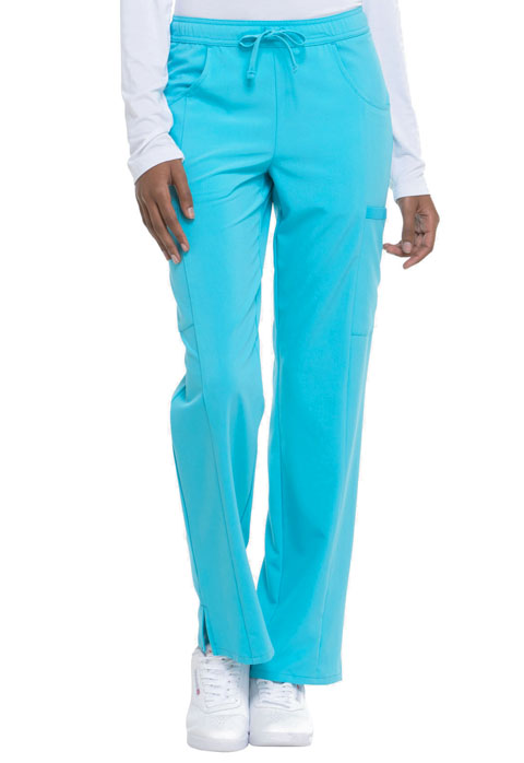 Dickies Every Day EDS Essentials Mid Rise Straight Leg Drawstring Pant in Turquoise