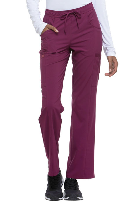 Dickies Every Day EDS Essentials Mid Rise Straight Leg Drawstring Pant in Wine