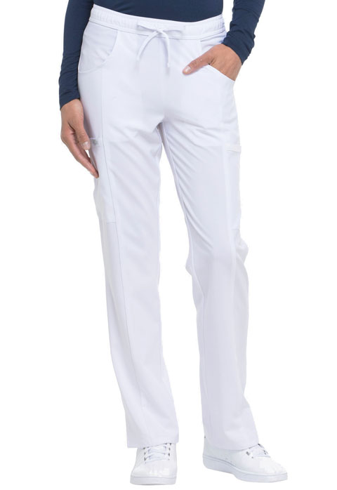 Dickies EDS Essentials Mid Rise Straight Leg Drawstring Pant in White