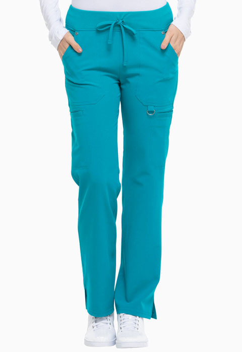 Dickies Xtreme Stretch Mid Rise Rib Knit Waistband Pant in Teal