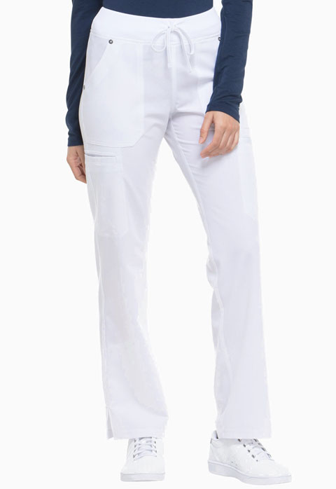 Dickies Xtreme Stretch Mid Rise Rib Knit Waistband Pant in White
