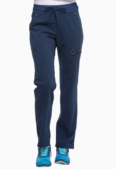 Dickies Xtreme Stretch Mid Rise Rib Knit Waistband Pant in D-Navy