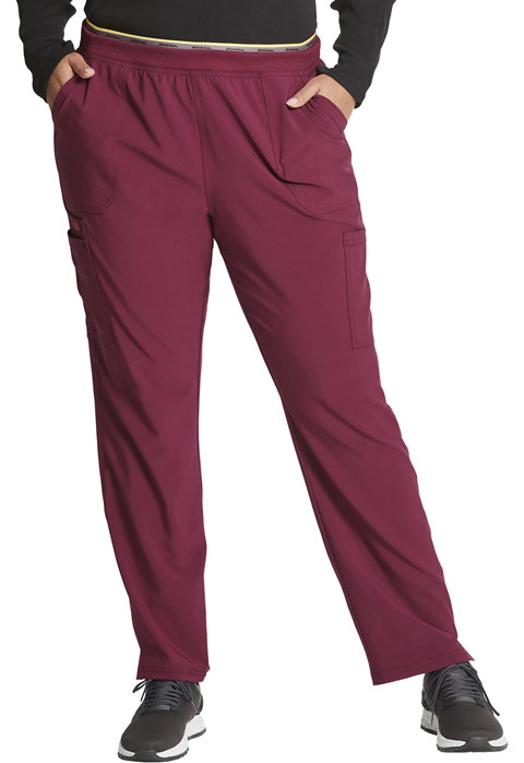 Dickies Retro Mid Rise Tapered Leg Pull-on Cargo Pant in Wine