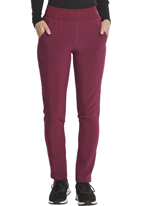 Dickies Every Day EDS Essentials Mid Rise Tapered Leg Pull-on Pant in Wine