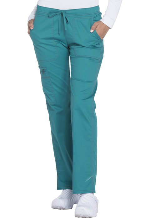 Dickies Gen Flex Low Rise Straight Leg Drawstring Pant in Teal