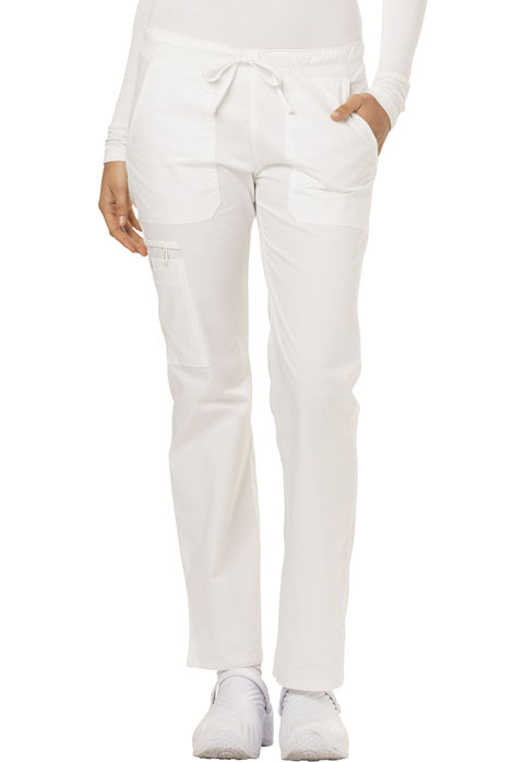 Dickies Gen Flex Low Rise Straight Leg Drawstring Pant in White
