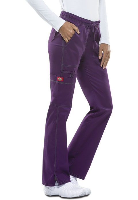 Dickies Gen Flex Low Rise Straight Leg Drawstring Pant in Eggplant
