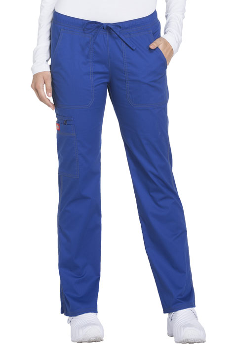 Dickies Gen Flex Low Rise Straight Leg Drawstring Pant in Galaxy Blue