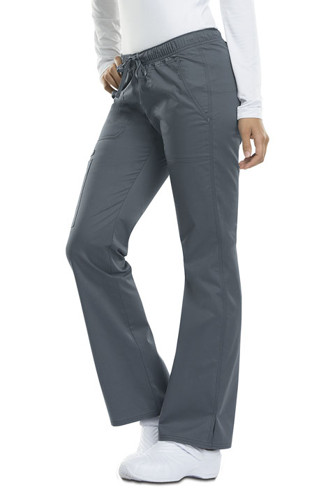 Dickies Gen Flex Low Rise Straight Leg Drawstring Pant in Light Pewter