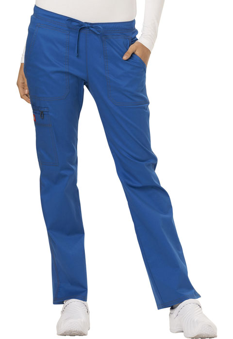 Dickies Gen Flex Low Rise Straight Leg Drawstring Pant in Royal