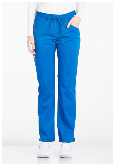 Dickies Essence Mid Rise Straight Leg Drawstring Pant in Royal