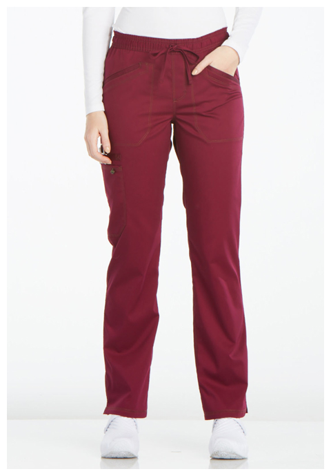 Dickies Essence Mid Rise Straight Leg Drawstring Pant in Wine