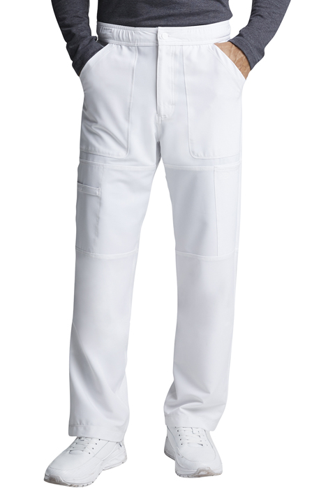 Dynamix Men's Men's Zip Fly Cargo Pant White