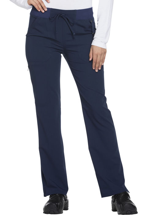 Dickies Xtreme Stretch Mid Rise Straight Leg Drawstring Pant in D-Navy