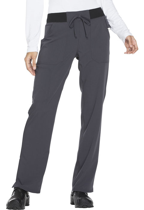 Dickies Xtreme Stretch Mid Rise Straight Leg Drawstring Pant in Pewter