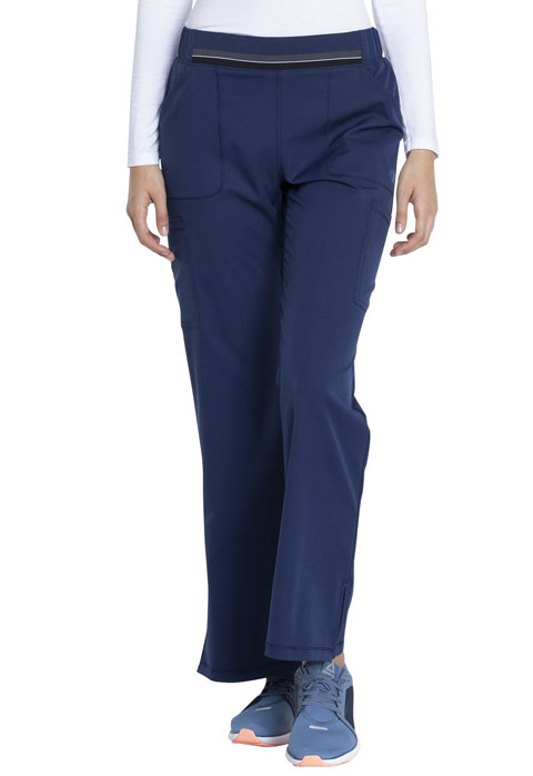 Dickies Dickies Dynamix Mid Rise Moderate Flare Leg Pull-on Pant in Navy
