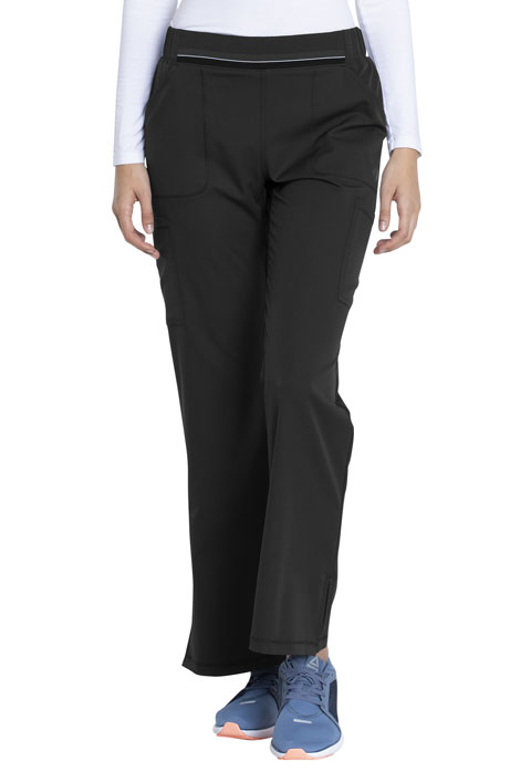 Dickies Dickies Dynamix Mid Rise Moderate Flare Leg Pull-on Pant in Black