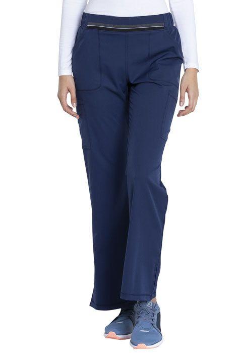 Dickies Dynamix Mid Rise Moderate Flare Leg Pull-on Pant in Navy