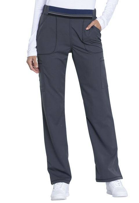 Dickies Dynamix Mid Rise Moderate Flare Leg Pull-on Pant in Pewter