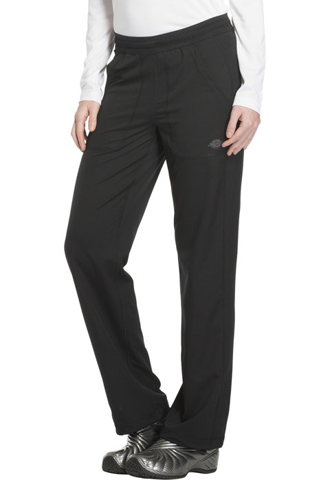 Dickies Dynamix Mid Rise Straight Leg Pull-on Pant in Black