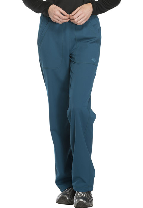 Dickies Dynamix Mid Rise Straight Leg Pull-on Pant in Caribbean Blue