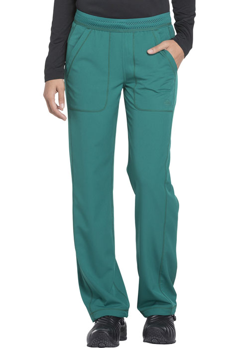 Dickies Dynamix Women's Mid Rise Straight Leg Pull-on Pant Green