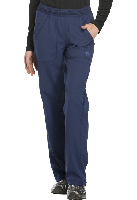 Dickies Dynamix Women's Mid Rise Straight Leg Pull-on Pant Blue