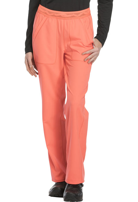 Dickies Dynamix Women's Mid Rise Straight Leg Pull-on Pant Orange