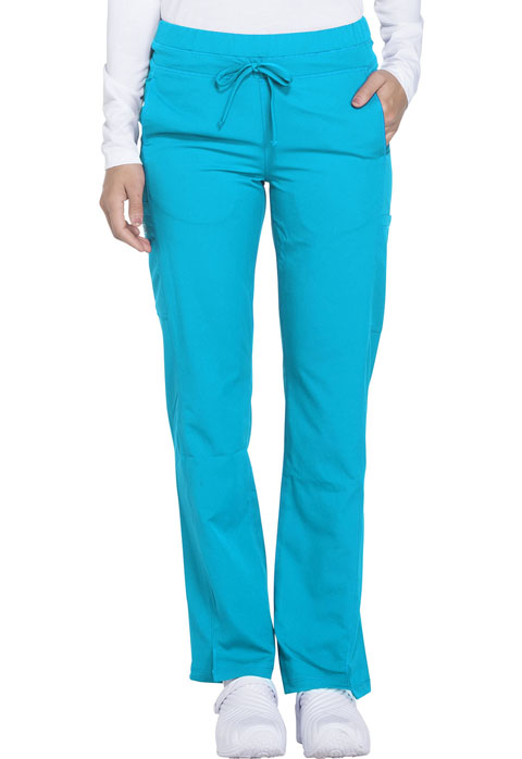 Dickies Dickies Dynamix Mid Rise Straight Leg Drawstring Pant in Blue Ice