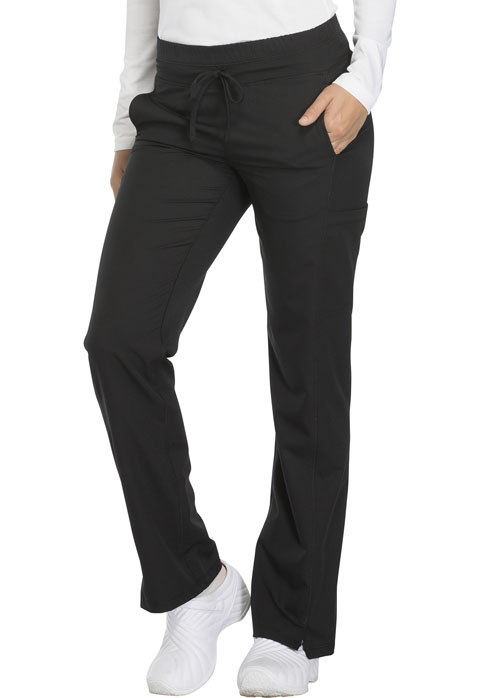 Dickies Dickies Dynamix Mid Rise Straight Leg Drawstring Pant in Black