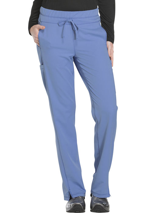 Dickies Dickies Dynamix Mid Rise Straight Leg Drawstring Pant in Ciel Blue