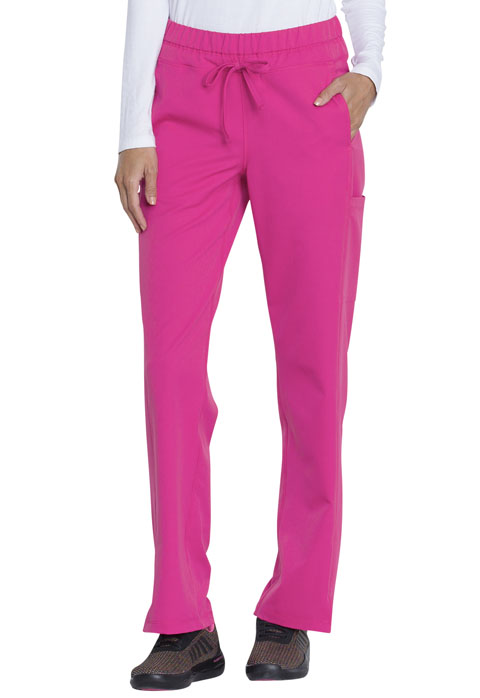 Dickies Dickies Dynamix Mid Rise Straight Leg Drawstring Pant in Hot Pink
