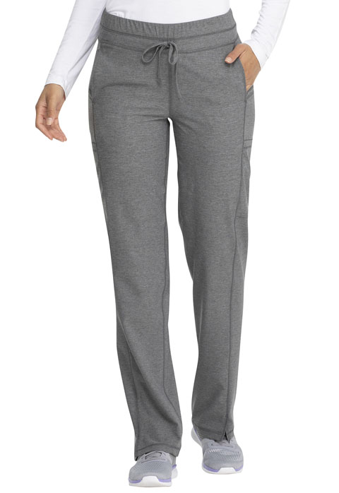 Dickies Dickies Dynamix Mid Rise Straight Leg Drawstring Pant in Heather Grey