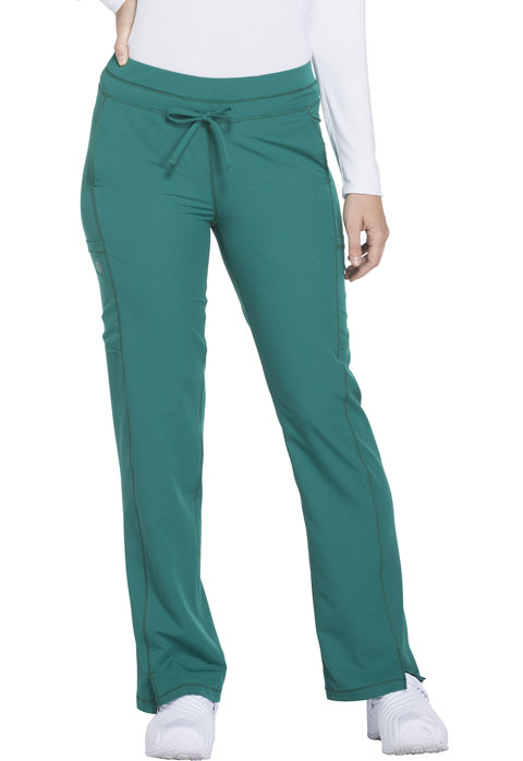 Dickies Dynamix Mid Rise Straight Leg Drawstring Pant in Hunter Green
