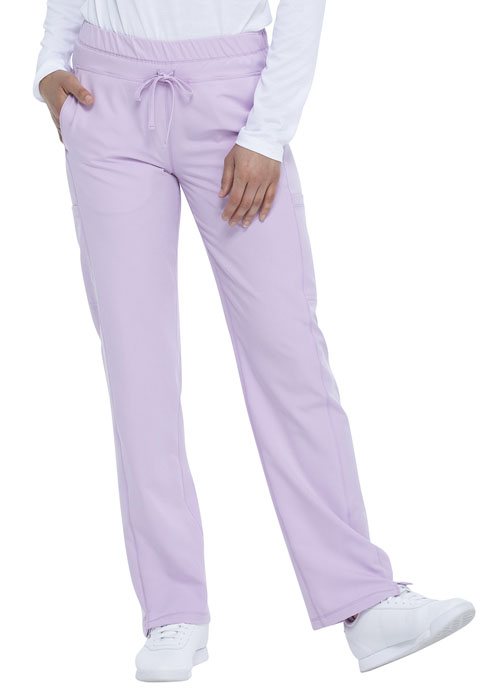 Dickies Dickies Dynamix Mid Rise Straight Leg Drawstring Pant in Lavender Spark