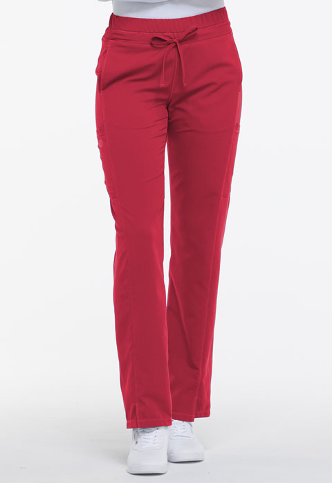 Dickies Dynamix Mid Rise Straight Leg Drawstring Pant in Red